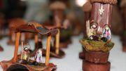 Pesebres miniatura hacen de la Navidad un arte