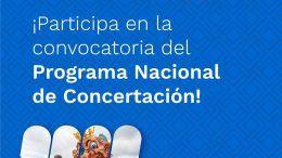 Abierta convocatoria cultural del Programa Nacional de Concertación